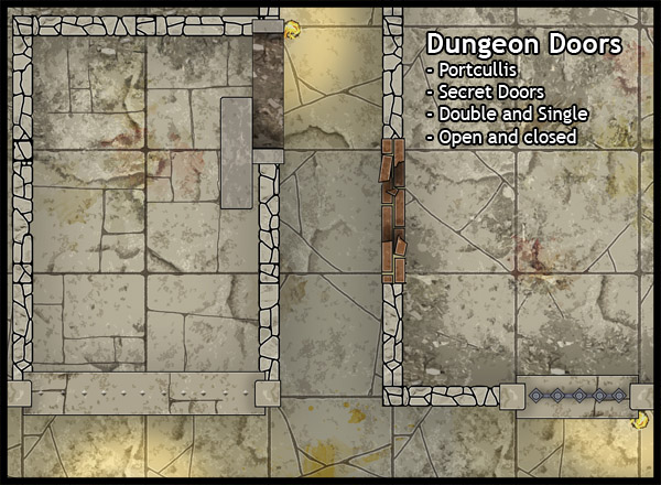Doors contains 6 pages of 300dpi high quality artwork and can be printed at 28mm and 25mm scale. & Heroic Maps: Doors - Heroic Maps | Free | DriveThruRPG.com