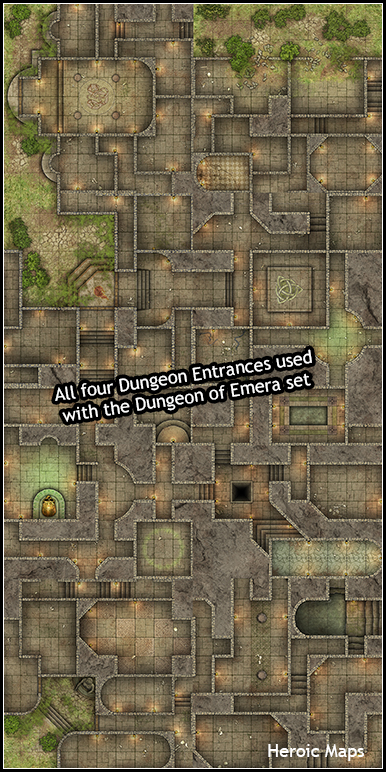 heroic maps - geomorphs  dungeon entrances