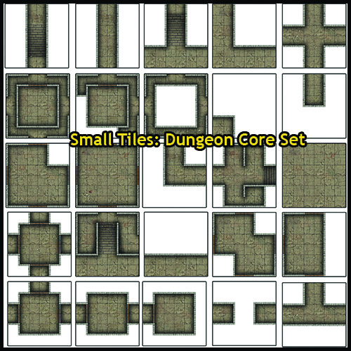 Small Tiles – Dungeon Core Set