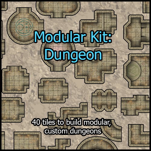 photo about Printable Dungeon Tiles known as Heroic Maps Modular Package: Dungeon - BoLS GameWire