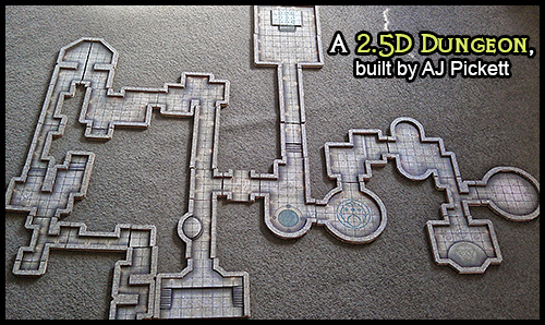 graphic about 3d Printable Dungeon Tiles titled Heroic Maps - Modular Package: Dungeon - Heroic Maps Caverns