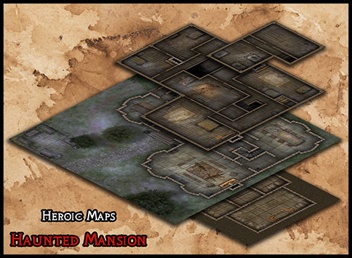 Heroic Maps Storeys Haunted Mansion Heroic Maps