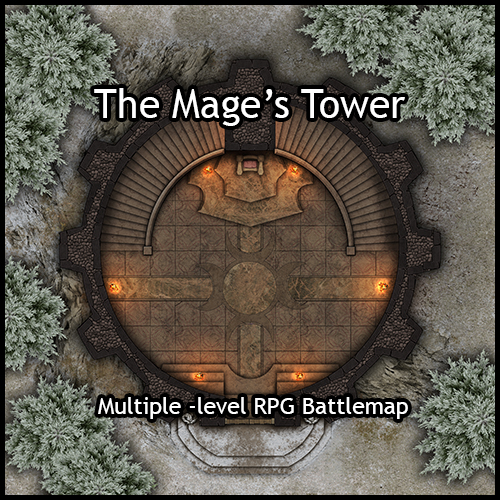 Heroic Maps Storeys The Mage S Tower Heroic Maps Buildings Dungeons Temples Churches Storeys Countryside Winter Encounters Drivethrurpg Com