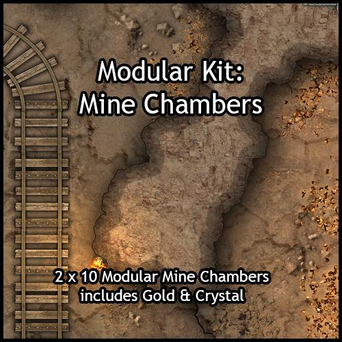 heroic maps - modular kit  mine chambers