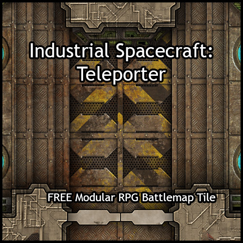 picture about Free Printable Dungeon Tiles called Heroic Maps - Modular Package: Professional Spacecraft Teleporter