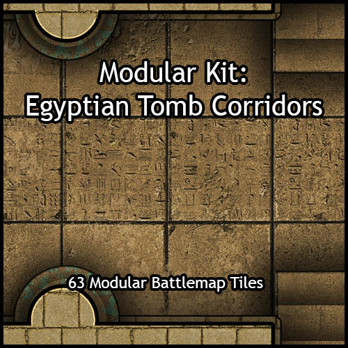 Modular Kit: Egyptian Tomb Corridors
