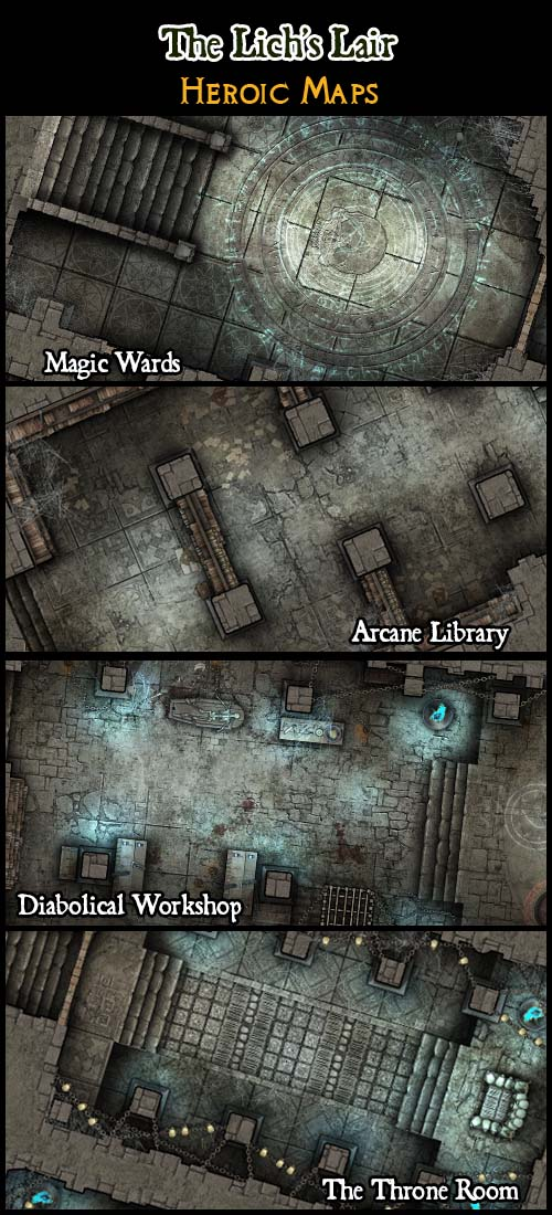 Heroic Maps The Lich S Lair Heroic Maps Buildings