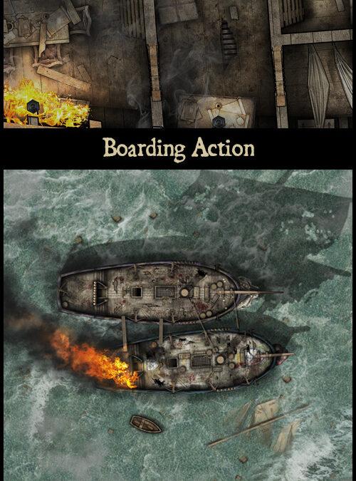 Boarding Action & Lord Mermington