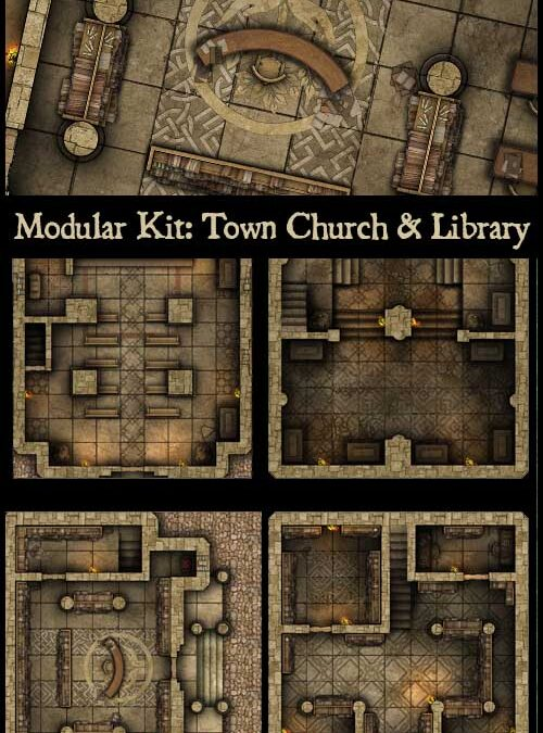 Modular Kit: Town Expansions – Church, Library, Tavern and Town Guard