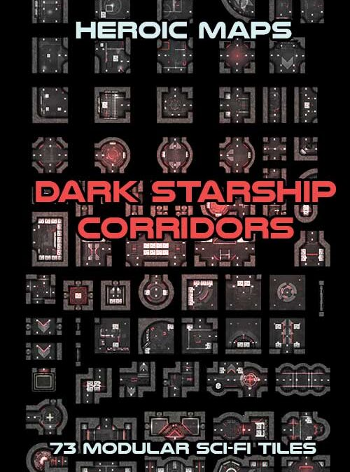 Modular Kit – Dark Starship Corridors