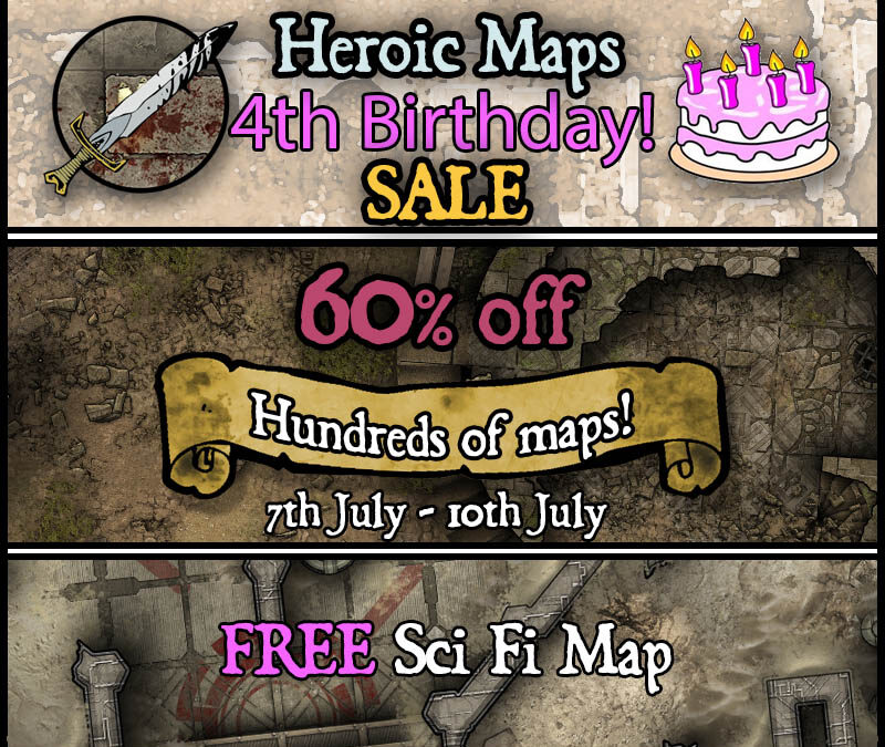 4th Birthday Sale!