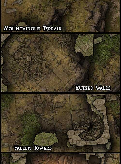 Heroic Maps – Castell Gwythyr – Intact & Ruined