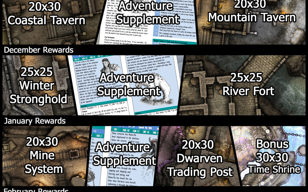Celebrating 6 Months of our Patreon Map of the Month Club!