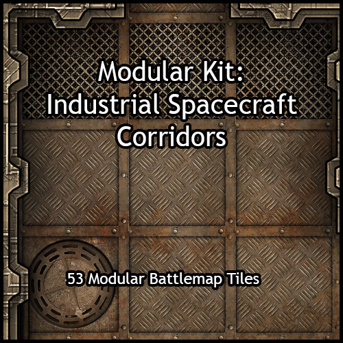 Modular Kit: Industrial Spacecraft Corridors
