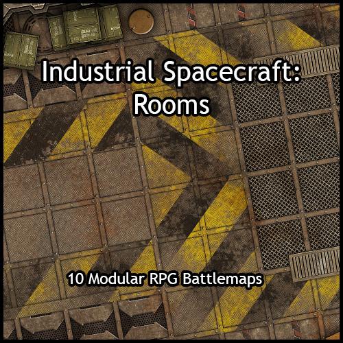 Industrial Spacecraft Rooms