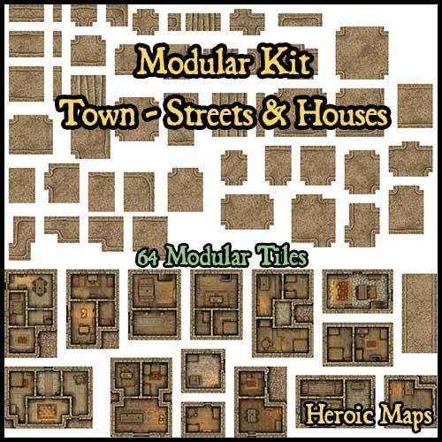 Modular Kit: Town – Streets & Houses